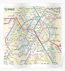 The New Paris Metro Map Poster