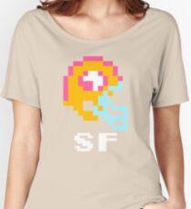Tecmo Bowl, Tecmo Super Bowl, Tecmo Bowl Shirt, Tecmo Bowl T-shirt, Tecmo Bowl Helmet, Bo Jackson, Football, SF Helmet, SF Women's Relaxed Fit T-Shirt