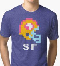 Tecmo Bowl, Tecmo Super Bowl, Tecmo Bowl Shirt, Tecmo Bowl T-shirt, Tecmo Bowl Helmet, Bo Jackson, Football, SF Helmet, SF Tri-blend T-Shirt