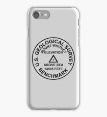 Mount Whitney, California USGS Style Benchmark iPhone Case/Skin