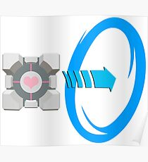 Blue portal love Poster