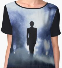 LADY GAGA STAGE SILHOUETTE Women's Chiffon Top