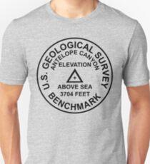 Antelope Canyon, Arizona USGS Style Benchmark Unisex T-Shirt