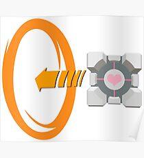 Orange portal love Poster