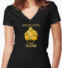 Body of a God Women's Fitted V-Neck T-Shirt
