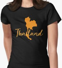 Thailand map fancy Womens Fitted T-Shirt