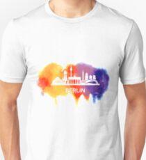 Berlin Skyline Watercolor Unisex T-Shirt