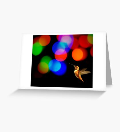 HUMMINGBIRD ART Greeting Card