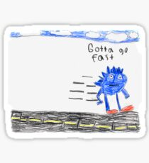 Sonic the Hedgehog GO FAST Sticker