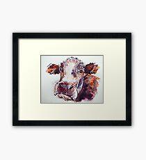 Gloomy Cow Framed Print