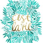 That's Life – Turquoise & Gold by Cat Coquillette