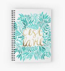 Cuaderno de espiral Eso es vida - Turquesa y oro