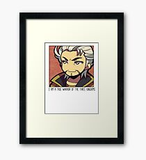 Dynasty Warriors Sun Jian of Wu chibi the tiger of jiangdong Framed Print