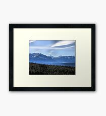 Misty Blue Mountains Framed Print