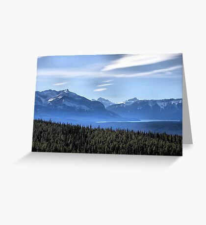 Misty Blue Mountains Greeting Card