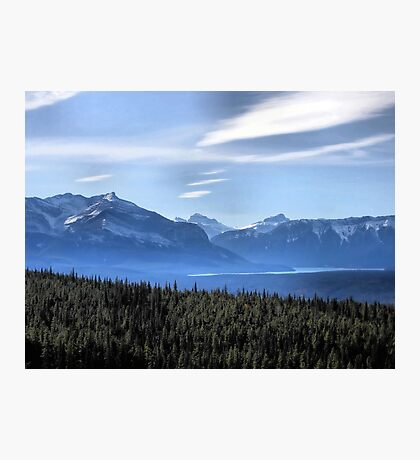 Misty Blue Mountains Photographic Print
