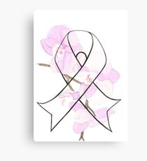 Orchid Breast Cancer Ribbon Canvas Print