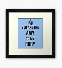Amy+Rory Framed Print
