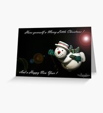 Merry Christmas Redbubble members. Greeting Card