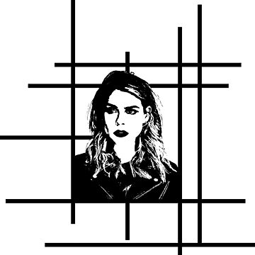 High Contrast Billie Piper with Background Design by rosem-arts