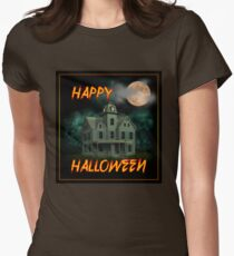 Haunted Mansion - Happy Halloween Womens Fitted T-Shirt