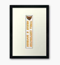 Tyrell Corp Framed Print