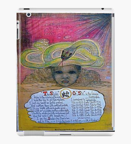 the snake ;- chinese horoscopes, your year. iPad Case/Skin