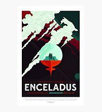 Space Toursim Enceladus Photographic Print