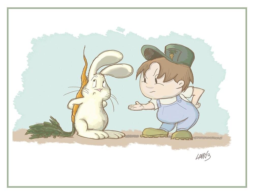 Rabbit Thief by Larry3studios