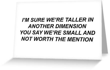 "white ferrari lyrics"" greeting cardsboysdontcry011 | redbubble"