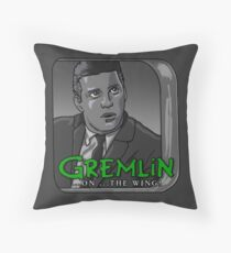 Gremlin...On The Wing! Throw Pillow