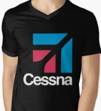 Camiseta para hombre de cuello en v Cessna