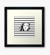High Contrast Natalie Dormer with Background Design Framed Print