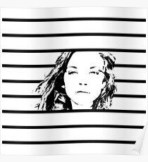 High Contrast Natalie Dormer with Background Design Poster