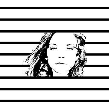 High Contrast Natalie Dormer with Background Design by rosem-arts
