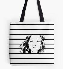 High Contrast Natalie Dormer with Background Design Tote Bag