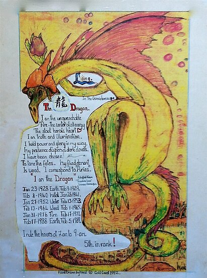 """Long"" my chinese chart, of the year of the Dragon by MardiGCalero"