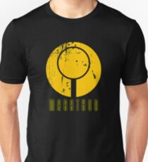 Marathon Symbol IV - Yellow on black Unisex T-Shirt