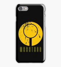 Marathon Symbol IV - Yellow on black iPhone Case/Skin