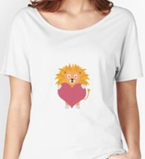 Lion with big heart Women's Relaxed Fit T-Shirt