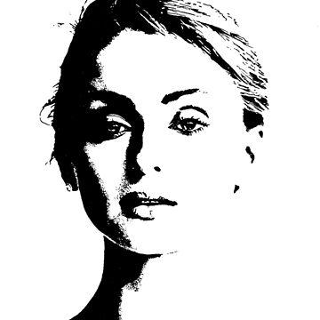 High Contrast Sophie Turner by rosem-arts
