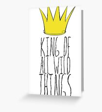Where the Wild Things Are - King of All Wild Things 2 Cutout  Greeting Card