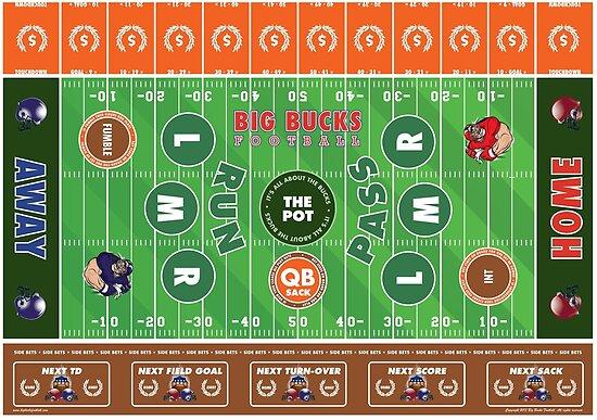 Big Bucks Football - Brown & Orange by bigbuck