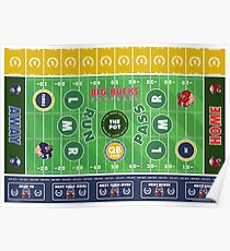 Big Bucks Football - Blue & Gold Poster