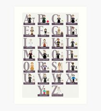 Fantastisches Frauen-Alphabet Kunstdruck