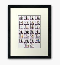 Awesome Females Alphabet Framed Print