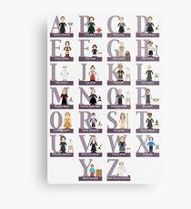 Awesome Females Alphabet Metal Print