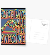 Some days are awesome in color  Postcards