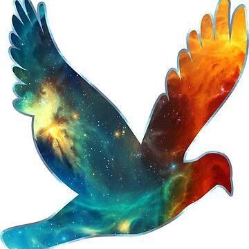Space Bird, Universo, Galaxy, Cosmos de boom-art