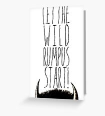 Where the Wild Things Are - Rumpus Start Cutout Greeting Card